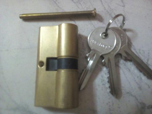 cilindro duralock tipo pera de 60 m/m dorado