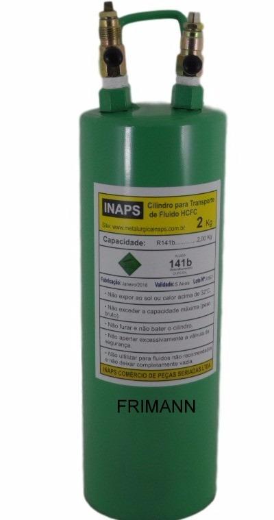 Cilindro garrafa p transporte de g s refrigerante 2 kg for Cilindro de gas 15 kilos