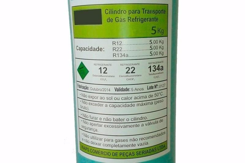 Cilindro garrafa p transporte de g s refrigerante 5kg r for Cilindro de gas 15 kilos