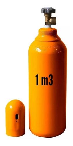 cilindro gás hélio 1m3 7lts + regulador helio (novo vazio)