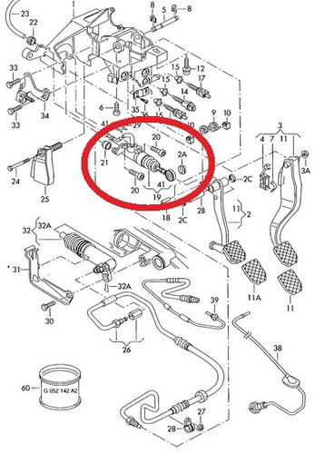 cilindro mestre da embreagem audi a4 1.8 1995 a 2001