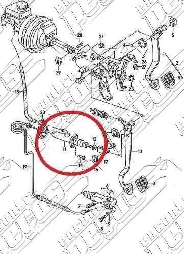 cilindro mestre da embreagem audi a6 1.8 1995 a 1997