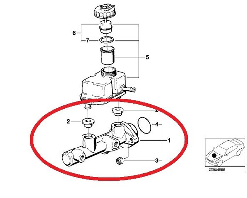 cilindro mestre do freio bmw 750i 1994-2001 original