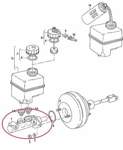cilindro mestre freio golf 2.0 sportline 2011-2013 original