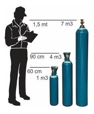 cilindro para solda mig 1m3 7lts + regulador argonio