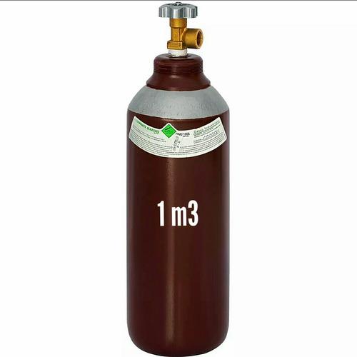 cilindro para solda mig (vazio) 1m3 7lts (argônio+co2)