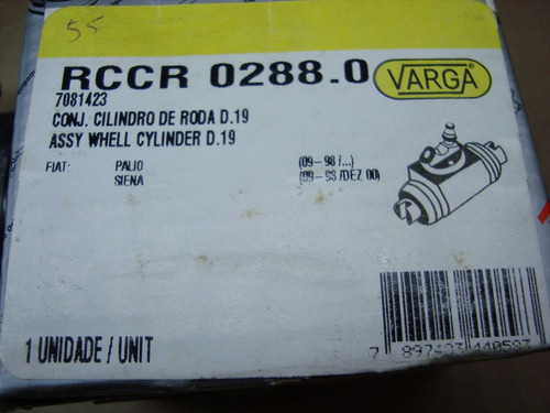 cilindro roda palio após 09-98/ siena 09-98 12/00 varga