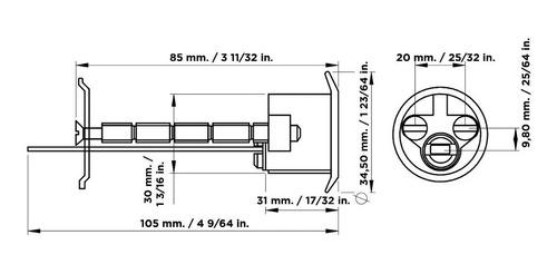 cilindro suelto cisa para carros 60mm puerta maletera zamack
