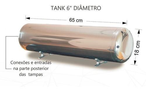cilindro vte-c 6  (válvulas + tank + super black) - castor
