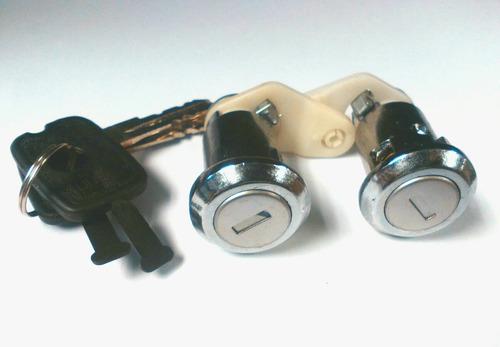 cilindros de puertas para chevette y monza juego de 2 piezas