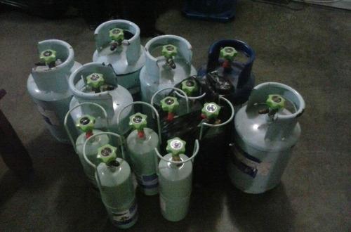 cilindros de refrigeración de 5 kilos y de 1.5 kilos