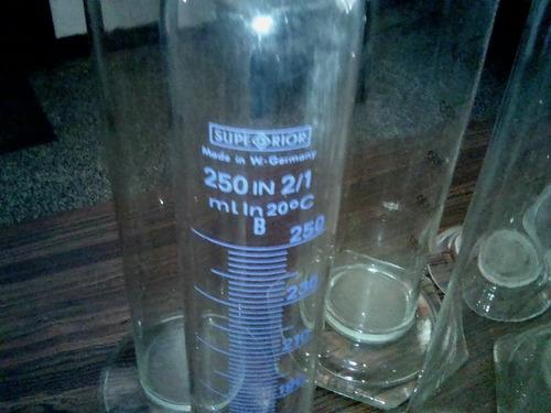 cilindros graduado vidrio plastico 50, 100, 250, 500, 1000ml