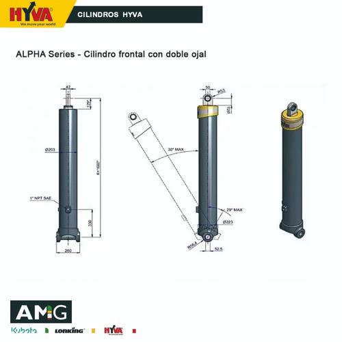 cilindros hidraulicos hyva nueva serie alpha telescópico!!!!