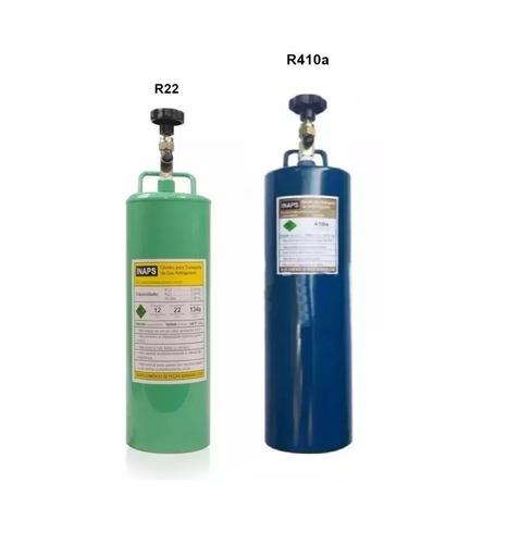 cilindros transporte para gas refrigerante r410 e r22 1kg
