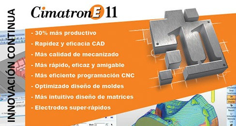 cimatron e11 cad cam cnc 32-64 bits diseño moldes troqueles