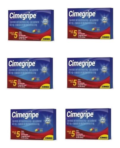 cimegripe com 20 cápsulas -  kit com 6 caixas