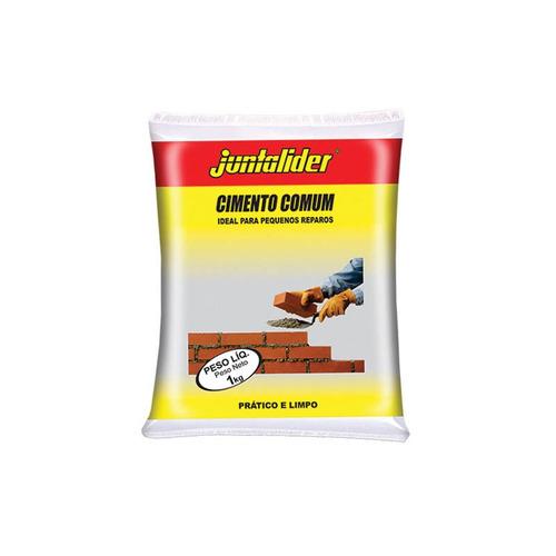 cimento comum juntalider 1kg cinza