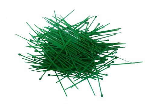 cincho plástico 10 x 2mm  100 piezas verde