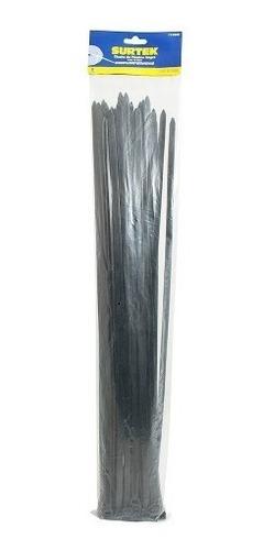cincho plástico 203 x 3.6mm 50 piezas negro 114209 surtek