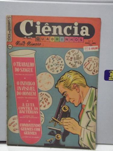 ciência em quadrinhos - nº 5 - trabalho do sangue  1954 pz4