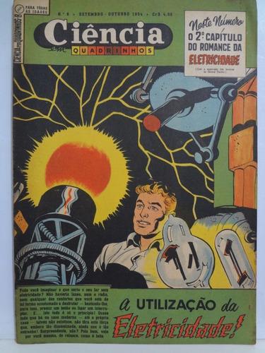 ciência em quadrinhos nº 8 a utilização da eletricidade 1954