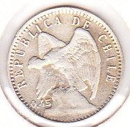cinco centavos 1919 0.45 plata