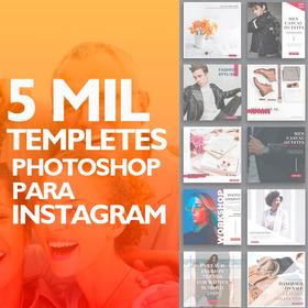 Cinco Mil Banners Editáveis Para Instagram  Diversos Modelos