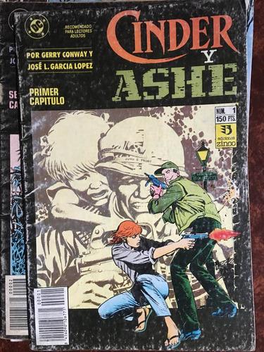 cinder y ashe, 1 y 2 , 2 revistas historieta dc , ed zinco