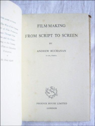 cine : del guion a la pantalla _ andrew buchanan - en ingles