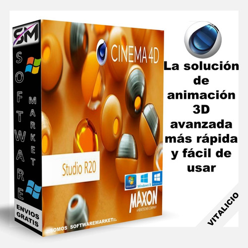 cinema 4d studio r20 - crea objetos y animaciones 3 d