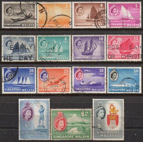 cingapura - queen elizabeth ii - 1955 - s/completa c4