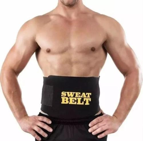 cinta abdominal termica fitnes masculina perde barriga peso