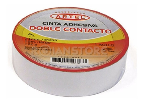 cinta adhesiva artel doble contacto rollo 24mm x 10m