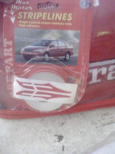 cinta adhesiva decorativa para auto .lateral rayas
