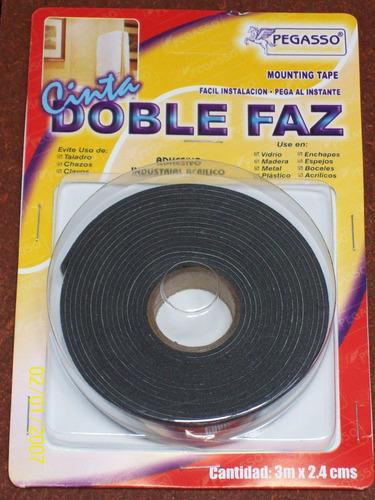 cinta adhesiva doble cara espejo vitrina publicidad 48mmx 5m
