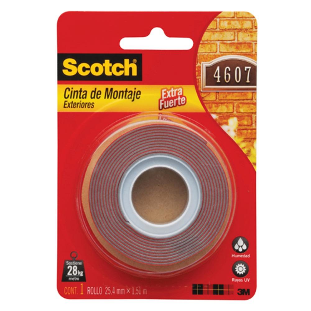Cinta adhesiva montaje fuerte exterior doble cara scotch - Cinta adhesiva 3m doble cara ...