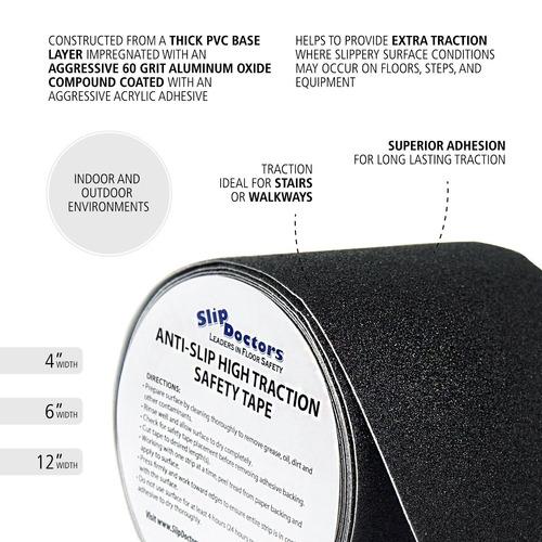 cinta adhesiva seguridad antideslizante exterior 4''x15 pies