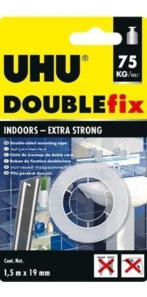 cinta adhesiva uhu double fix indoors adhesivo doble faz 75k