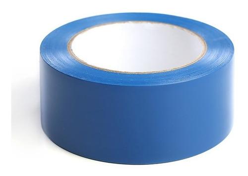 cinta adhesiva vinilo azul demarcacion industrial rollox30mt