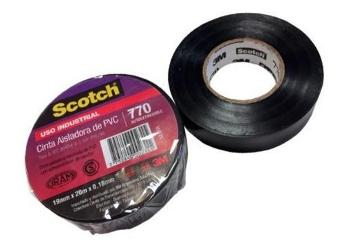 cinta aisladora 3m negra scotch 770 x10 mtrs.10unds