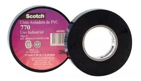 cinta aisladora 3m scotch 770 x 10mts negro x 5 unid
