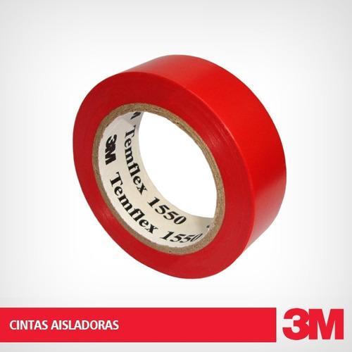 cinta aisladora 3m temflex 1550 20 metros x10 unid colores