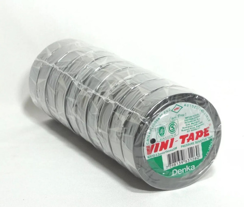 cinta aisladora vinitape x20 mts negro x 10 unid