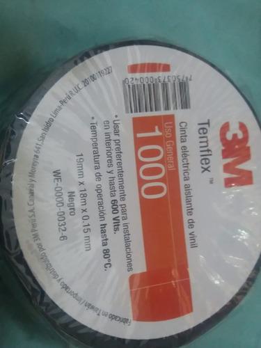 cinta aislante 3m 1000 color negro