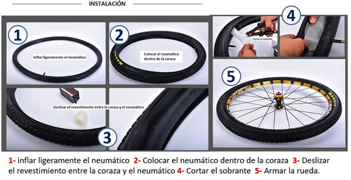 cinta antipinchazos banda bici mtb-ruta 26  27,5  29  700c