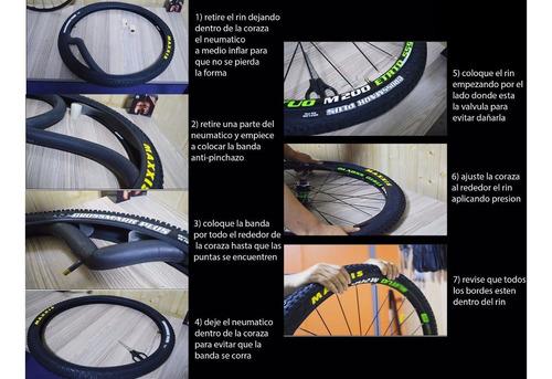 cinta antipinchazos para bicicleta de ruta 700 y mtb