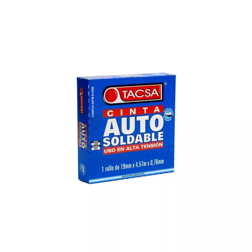 cinta autosoldable tacsa 19mm x 0,76mm x 4,57mt alta tension