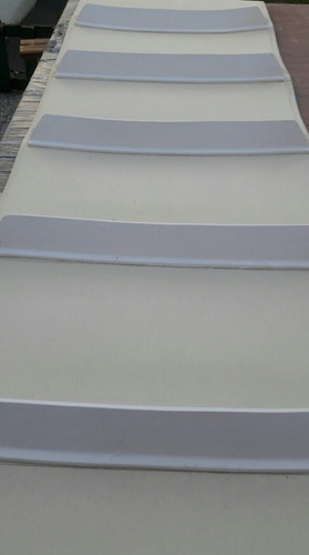 cinta- banda transportadora sanitaria pu 2 telas blanca