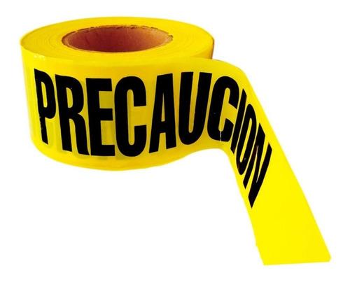cinta barricada   precaución  amarilla rollo 305 mts