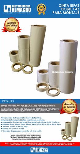 cinta bifaz/doble faz p/ montaje de fotos  de 50 mm. x 30mts